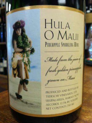 Hula O Maui, Pineapple Sparkling Wine